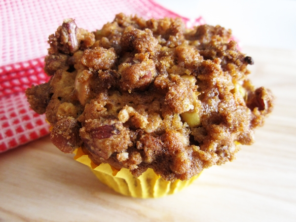 Vegan Caramel Apple Muffins