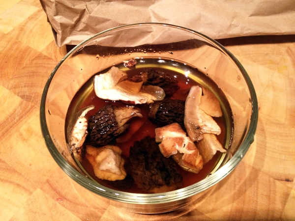 Soaking Dried Mushrooms