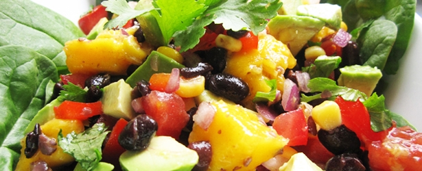 Avocado Mango Black Bean Salad