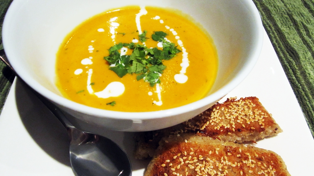 Roasted Butternut Squash, Lime & Coconut Soup (Vegan, Gluten-Free)