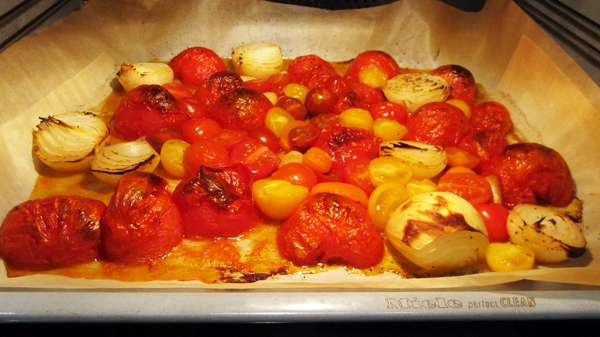 Roasted Fresh Tomato Soup - The smell of the fresh tomatoes roasting is intoxicating! Vegan & Gluten-Free.