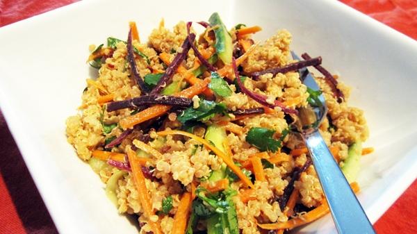Spicy Peanut Quinoa Salad (Vegan, Gluten-Free)