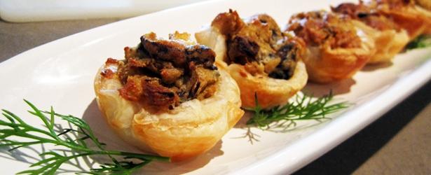 Mushroom Mini Quiches
