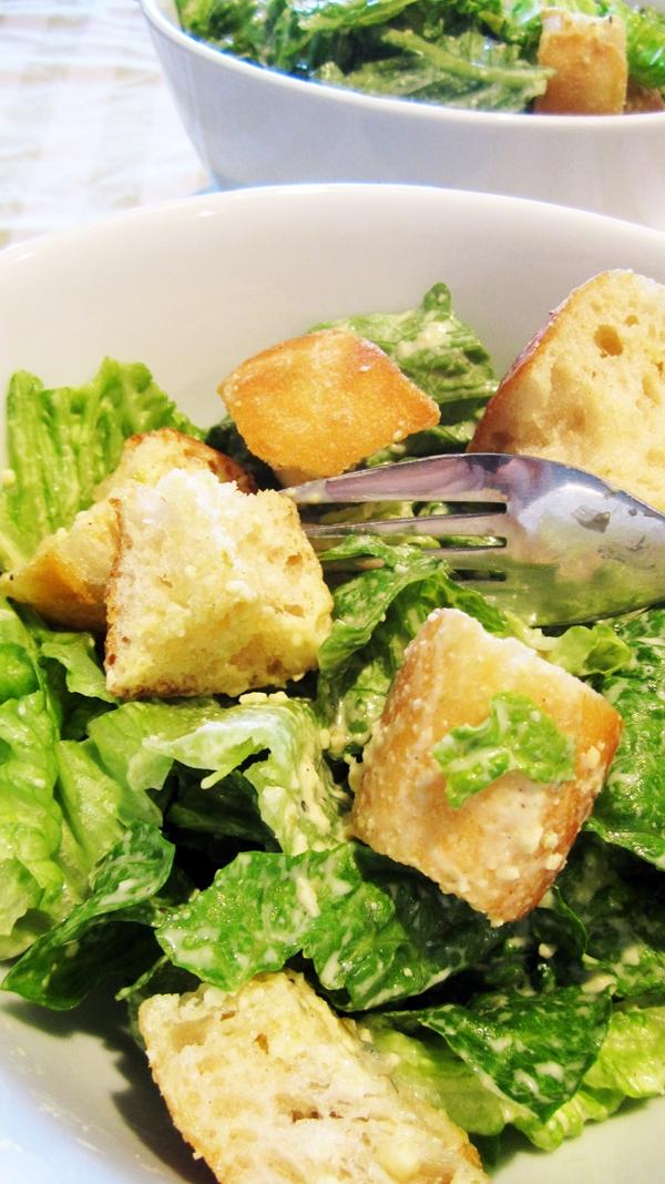 Caesar Salad [Vegetarian]   A SOSCuisine recipe