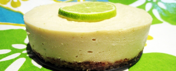 (Almost Raw) Vegan Key Lime Cheesecake - Gluten-Free
