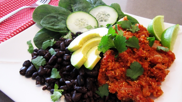 Tex-Mex Tomato Quinoa - Vegan and Gluten-Free