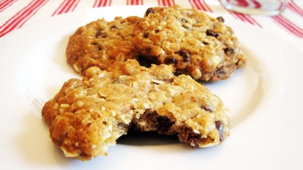 Vegan Oatmeal Chocolate Chip Cookies