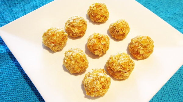 Almost Raw Coconut + Apricot Oat Balls