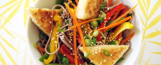 Hot & Cold Soba Noodle Salad - Vegan & Gluten-Free