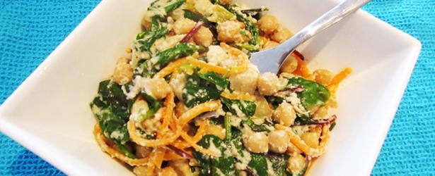 Creamy Cashew Kale & Chickpeas - Vegan & Gluten-Free