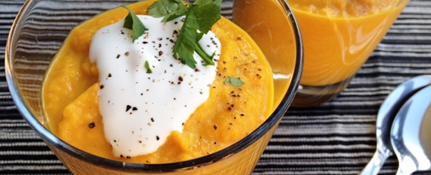 Carrot Apple Ginger Soup with Coconut Milk – Vegangela