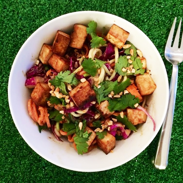 Raw Pad Thai (with sesame tamari tofu) - Vegan and Gluten-Free