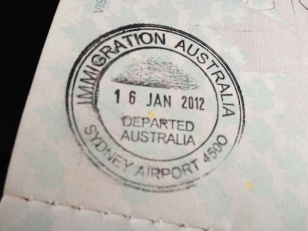 Australia Passport Stamp Vegangela
