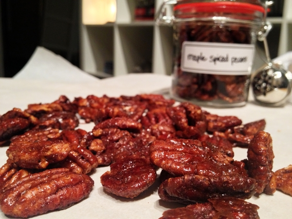 Maple Spiced Pecans - Vegan and Gluten-Free