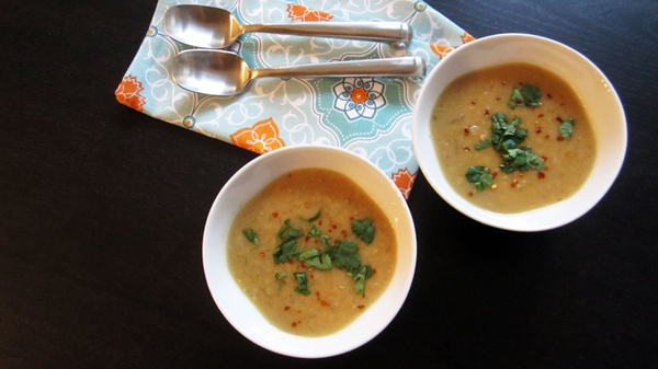 Easy Lemon Lentil Soup- Vegan & Gluten-Free