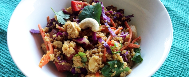 Asian Cashew Quinoa Salad (Vegan & Gluten-Free)
