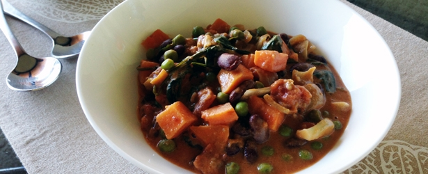 African Peanut Stew with Sweet Potato and Beans - Vegan and Gluten-Free