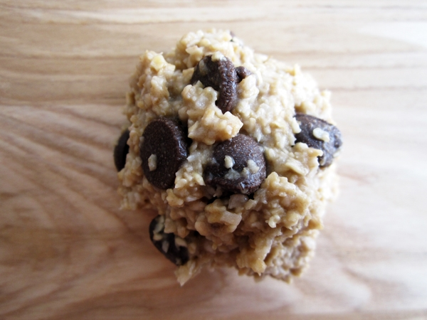 Almost Raw Chocolate Chip Cookie Dough Balls - Vegan and Gluten-Free