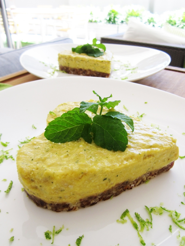 Raw Mango Cheesecake - Vegan and Gluten-Free (Use cookie-cutters instead of cheesecake pans!)