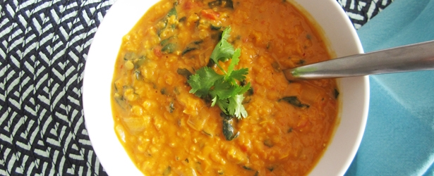Coconut Curry Lentil Soup - Vegan & Gluten-Free