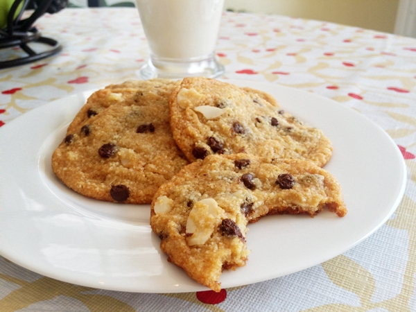 Almond Flour Chocolate Chip Cookies - These super-soft cookies are Vegan and Gluten-Free!
