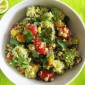 Southwestern Quinoa Salad with Creamy Avocado Dressing