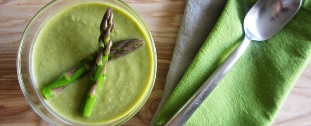 Vegan Cream of Asparagus Soup - Cashews make it creamy!